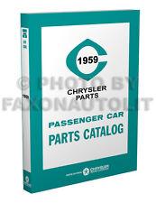 1959 MoPar Illustrated Parts Book Catalog Dodge Chrysler Plymouth DeSoto De Soto