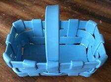 Blue Italian Basket Retro Fatto A Mano Sky Blue Studio Art Clay Easter Style