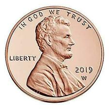 """2019 """"W"""" Lincoln Penny Union Shield Cent, PROOF, Single Coin, Mint Sealed Pack"""