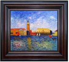 Framed Renoir The Doges Palace, Venice Repro. Hand Painted Oil Painting 20x24in