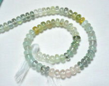 Multi Color Aquamarine 6mm Smooth Rondelle Gemstone Beads 10 Inches Strand