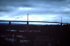 Vintage Kodak Kodachrome Slide Negative, Uknown Town City Bridge Building Scene