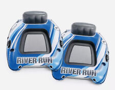 Intex River Run 1 Sports Lounge Inflatable Floating Tubing Water Raft (2 PACK)