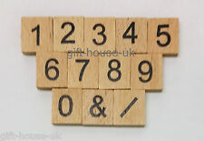 Individual Wooden Scrabble Tiles Numbers Letters Crafts Alphabet Game Wood Play