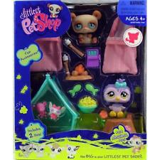 Littlest Pet Shop Hasbro Camping OWL & PANDA BEAR lot #924 925 Rare Retired NIB