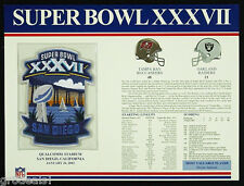SUPER BOWL 37 TAMPA BAY BUCS RAIDERS Willabee Ward OFFICIAL NFL SB XXXVII PATCH