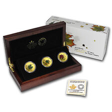 2015 Canada 3 oz Proof Gold $200 Maple Leafs of Fall 3-Coin Set - SKU #92133