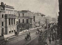 Regent Street and Waterloo Place. London 1896 old antique print picture