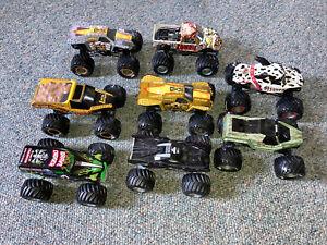 1:24 Scale Mattel Hot Wheels Monster Jam Diecast Monster Truck Lot