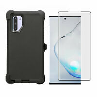 Black For Samsung Galaxy Note 10+Plus Case w/Screen &Clip Fits Otterbox Defender