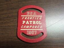 BSA Frontier Patrol Camporee 1967 Leather Slide     cjp x2