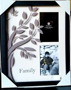 NEW BURNES of Boston Photo Frame for  2 - 4x6 Photos - Family Tree