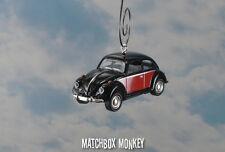 67 Classic Black 2 Tone Volkswagen Beetle Christmas Ornament VW Bug Herbie 1/64