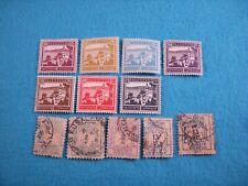 Palestine Stamps. #78-84, #J1-5