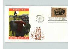 Buffalo, Wildlife Conservation, Overseas mailer w/ pic of Prairie Dog, Fdc