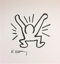 KEITH HARING ORIGINAL HAND DRAWN & SIGNED * UNTITLED * INK ON CARDSTOCK