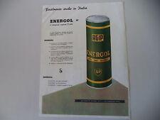 advertising Pubblicità 1954 AGIP ENERGOL OLIO BP MOTOR OIL