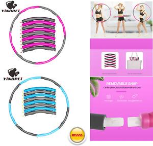 Hula Hoop Reifen Fitness Schaumstoff Bauchtrainer 8 Teile 1kg (ca 95 cm) NEU