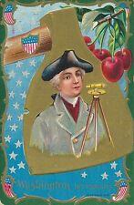 Washington His Industry Washington's Birthday Patriotic Postcard
