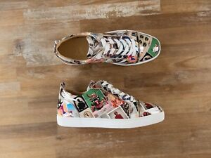 CHRISTIAN LOUBOUTIN Louis Junior collage patent leather sneakers - 12 US / 45 EU