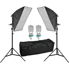 1250W Fotostudio Set Softbox Studioleuchte ø8,8cm 4420 Lumen Fotolampe SUPERHELL