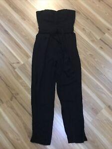 Portmans Black Strapless Jumpsuit Size 12