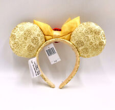 Disney Park Mickey Minnie Mouse Ears Belle Beauty and the Beast Bow Headband