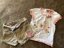 Vintage French Toast Outfit Girls Size 18 Months 2 Pc Summer shorts top