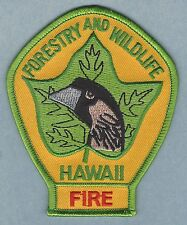 HAWAII FORESTRY AND WILDLIFE FIRE CONTROL PATCH