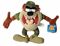 Vintage Looney Tunes Tasmanian Devil Taz Nanco Plush Doll Marine Camouflage Toy