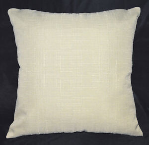 Qh07a Dim Beige Plain Thick Cotton Blend Cushion Cover/Pillow Case Custom Size