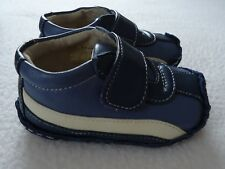 See Kai Run Smaller Baby Boy 6 9 Months Shoes Leather Mazi Blue Hook Loop New