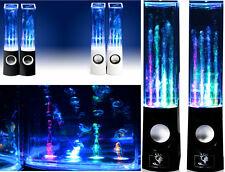 Casse PC con Acqua + Led.Sound control,water dancing,speakers con sub + LED !!!!
