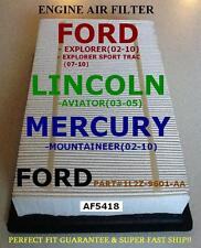 Ford Lincoln Mercury Air Filter Explorer02-10/Aviator03-0 5/Mountaineer. Af5418(Fits: Lincoln Aviator)