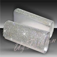 Plata Cristal Diamante Pedrería Fiesta Damas De Noche Bolsa De Embrague Wow
