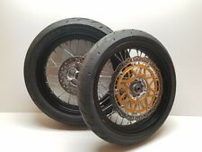 2009 09 Honda CRF230 CRF 230 Front / Rear Wheel Supermoto Super Moto Wheels Set