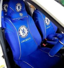 CHELSEA FOOTBALL CLUB CAR ACCESSORY: FULL CAR SEAT COVER & HEAD REST COVER