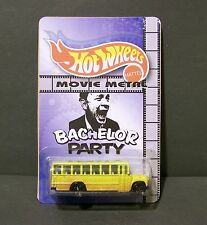 """Custom HotWheels school bus and package of  """"Movie Metal""""  from Bachlor Party"""