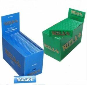 GENUINE Rizla Blue & Green Standard regular  Cigarette Rolling Papers 25,50,100
