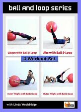 Resistance Band EXERCISE DVD Barlates Body Blitz BALL AND LOOP 4 Workouts