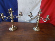 French Vintage 4 Arm Brass Gold Candelabra Ref T21/41,42