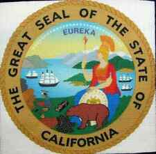 CALIFORNIA STATE SEAL - Printed Patch - Sew On -Tshirt, Bag, Jacket, Hat, Vest!