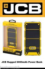 JCB Rugged 6000 mAh Power Bank External Battery iPhone iPad 1.0A 2.1A LED Torch