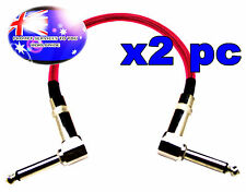 "From OZ Quality 2PC 12"" Guitar Patch Lead Wire Cable Right Angle Ends Pink +F.P!"