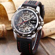 Mechanical (Hand-winding) Sport Silver Case Wristwatches