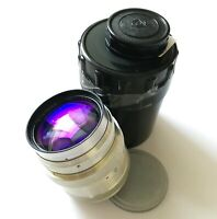 Jupiter-9 red P 2/85mm Lens silver mount M39 for mirrorless cameras USSR