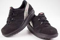 MBT Sport 040 Black Suede Mesh Rocker Toner Comfort Walking Womens Shoes Sz 7.5