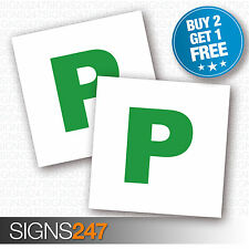 2 X P PLATE Stickers Passed Recently Just Passed Legal Self Adhesive Sticker