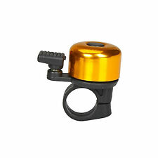 Gold Bicycle Bike Cycle Bell - Loud and Clear With Unique Spring System