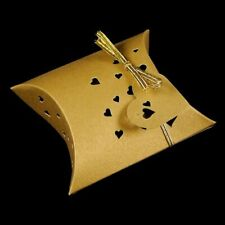 Euphyllia-Heart Pearl Pillow Favour Box Gold (pack of 25) (a501gld)
